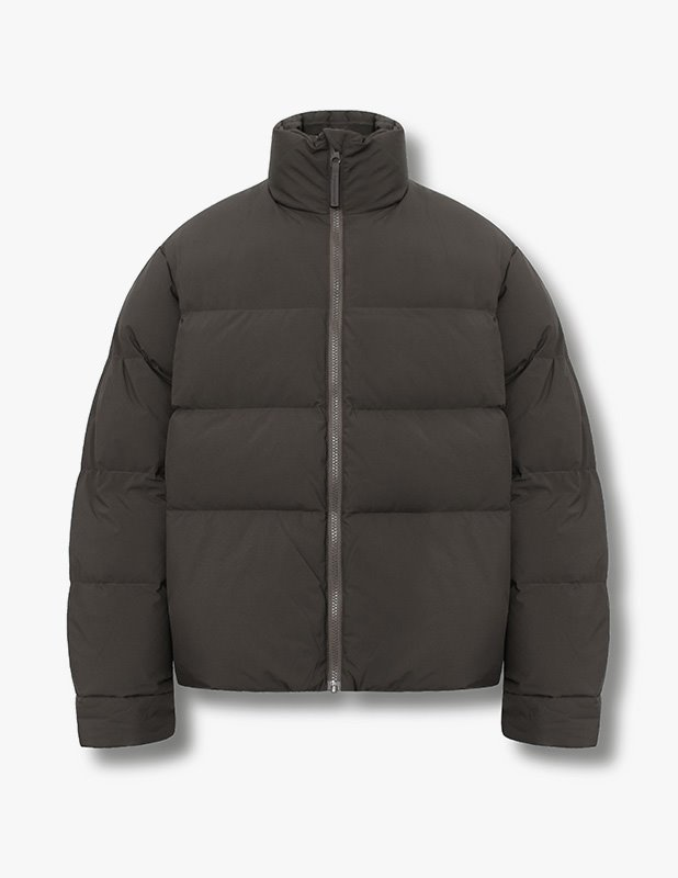 Minimal Puffer Down Short Padding_Dark Brown